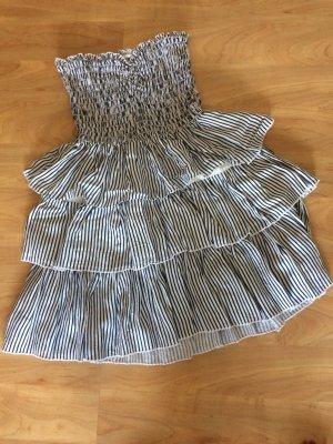 Gestreiftes Kleid mit Bandeau