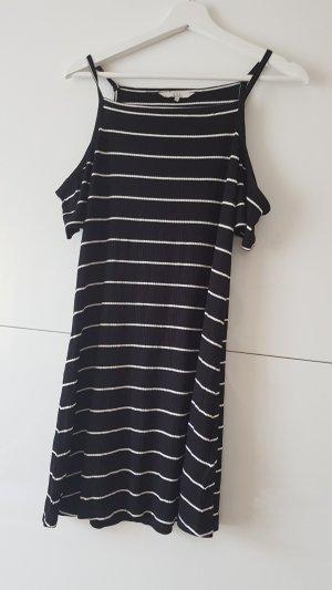 Gestreiftes Kleid mit Cut Outs