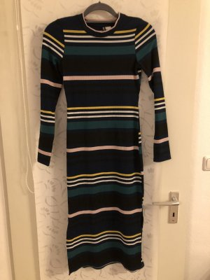 Gestreiftes Kleid mit seitlichem Schlitz H&M neu