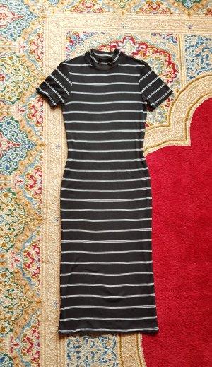 gestreiftes Kleid schwarz/weiß