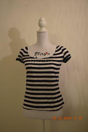gestreiftes kurzarm-Shirt mit raffiniertem Rückenausschnitt (Schleifen)