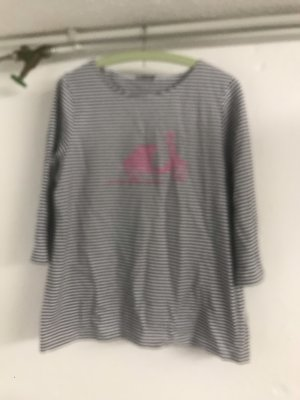 Gestreiftes langärmeliges T- shirt