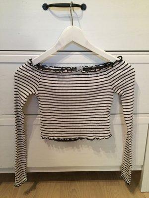 H&M Cropped Top black-white
