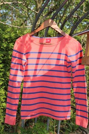 edc by Esprit Camisa larga rojo neón-azul oscuro