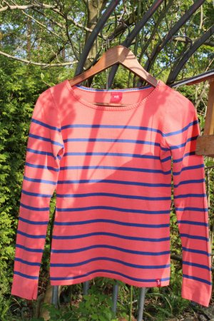 edc by Esprit Lang shirt neonrood-donkerblauw