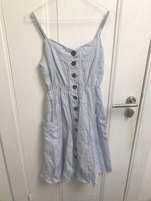 Gestreiftes Midi Kleid
