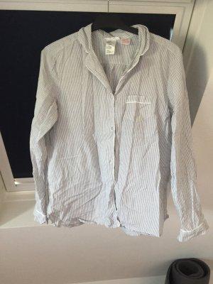 H&M Pyjama white-silver-colored cotton