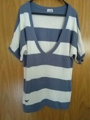 gestreiftes Oversize Strick Shirt