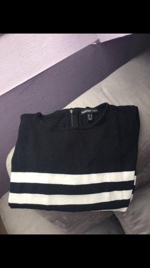 Mango Sweater Dress black-white