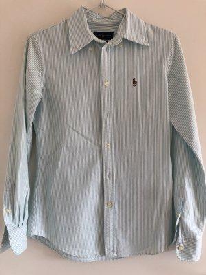 Ralph Lauren Chemise à manches longues blanc-turquoise