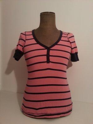 Gestreiftes Rose-Blaues T-Shirt Soccx Gr. S
