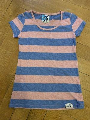 Roxy Camicia blu acciaio-rosa chiaro