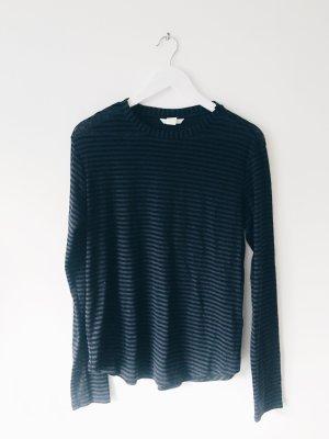 H&M Maglietta a righe nero-blu scuro