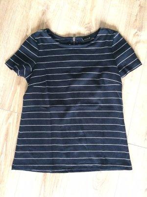 Vila T-shirt wit-donkerblauw