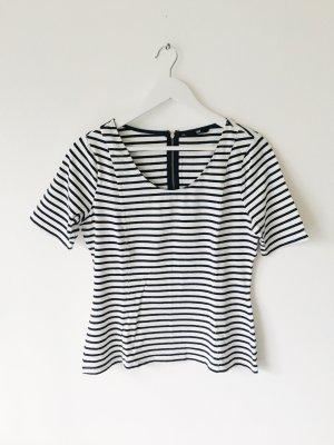 Camisa de rayas blanco-negro