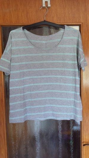Stripe Shirt light grey-turquoise
