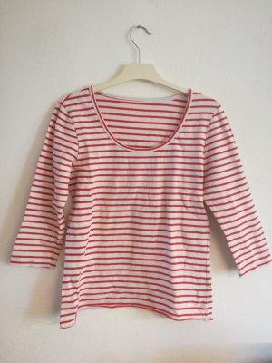 Gestreept shirt wit-rood