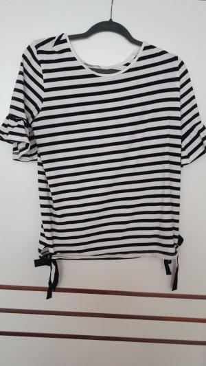 Orsay Camisa de rayas blanco-negro