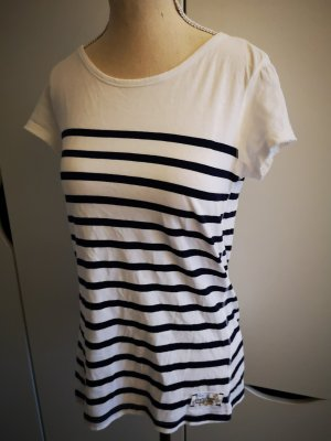 H&M L.O.G.G. Maglietta a righe bianco-blu scuro Cotone