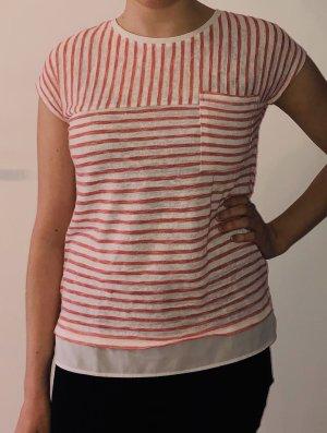 Gestreiftes Shirt mit Blusensaum