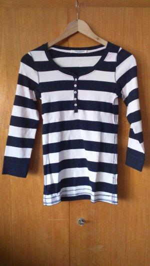 gestreiftes Shirt mit Knopfleiste