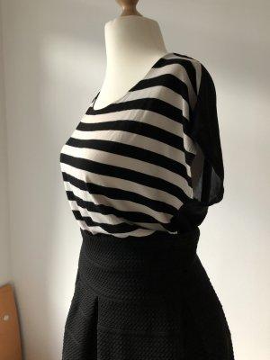 LTB Gestreept shirt wit-zwart