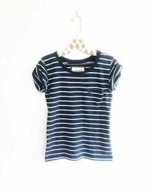 gestreiftes shirt / t-shirt / abercrombie & fitch / blau weiss
