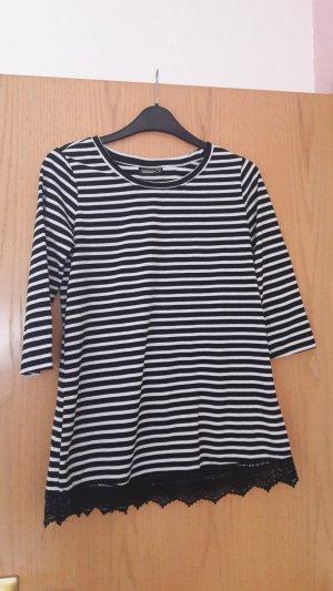 Gestreiftes Shirt von Janina Größe 34 schwarz weiß