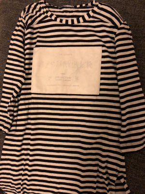 Zara Stripe Shirt white-dark blue