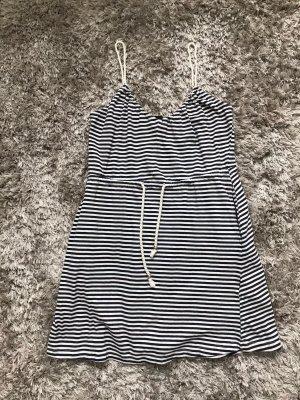 gestreiftes Sommerkleid mit Taschen Größe XS