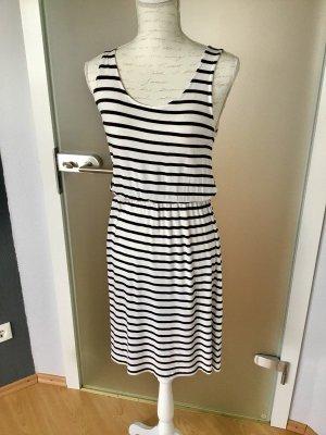 H&M T-shirt jurk wit-zwart Viscose