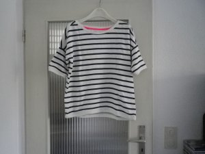 Gestreiftes Sweat-Shirt mit kurzen Ärmeln
