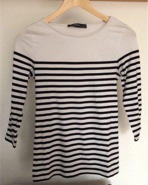 Hallhuber Sweatshirt wit-zwart