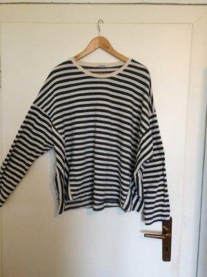 Gestreiftes Sweatshirt in blau weiß von Zara Größe L