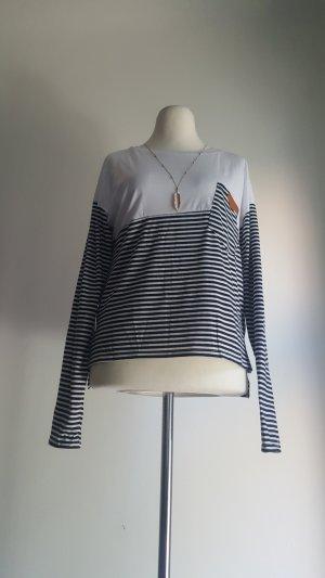 Sweat Shirt white-dark blue mixture fibre