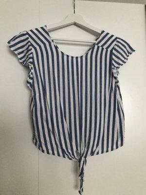 Bershka Camiseta blanco-azul