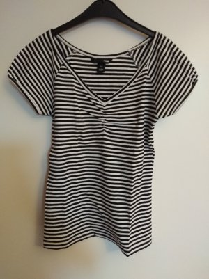 H&M Camisa de rayas negro-blanco