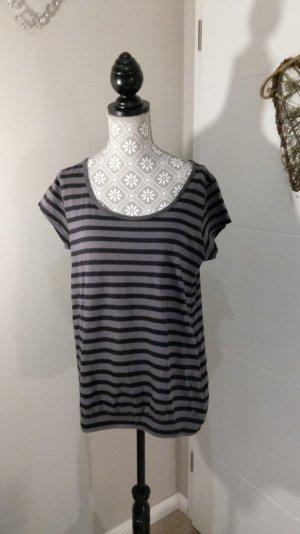 Gestreiftes T-shirt in grau schwarz