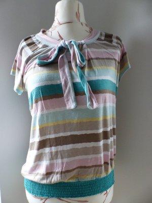 gestreiftes T-Shirt in Pastellfarben von Taifun - Gr. 40