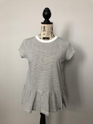 gestreiftes T-Shirt mit Rüschen/ Schößchen von Opus Gr. 36