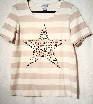 Gestreiftes T-Shirt  mit Stern Applikation