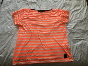 Gestreiftes T-Shirt orange