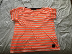 Gestreiftes T-Shirt orange