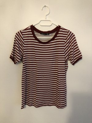 Boohoo T-Shirt white-bordeaux
