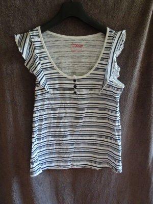 Pink loop Gestreept shirt wit-zwart