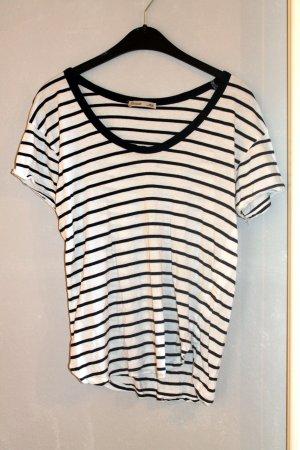 Zara T-shirt noir-blanc