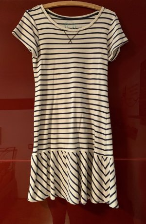 AJC Shirt Dress natural white-dark blue cotton