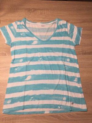 Gestreiftes Tshirt blau/weiß