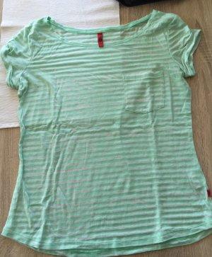 Gestreiftes Tshirt grün/weiß