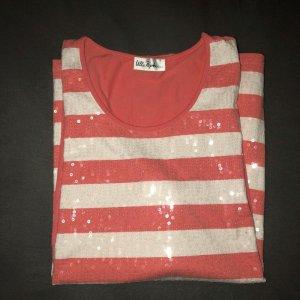 Gestreiftes Tshirt mit Paietten